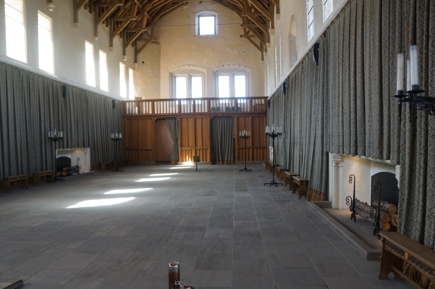A view of the long hall. Tapestries were often draped along the hall to provide insulation