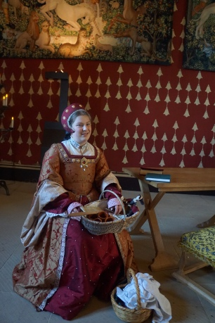 A lady in waiting in the Queen's chamber