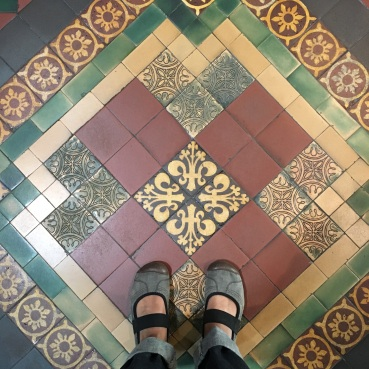 Tile work in the cathedral