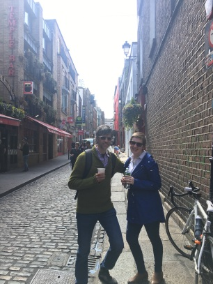 Having a coffee in Temple Bar