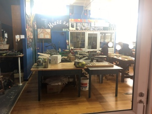 Wood shop (sorry for the blurry pics)